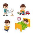 sleeping boy activities set