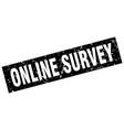Square grunge black online survey stamp