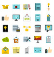 strongbox icons set cartoon style vector image vector image