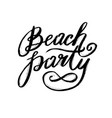 summer beach party design poster or flyer night vector image