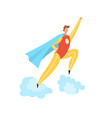 super hero costume flat cartoon vector image