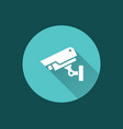 surveillance camera icon for graphic and web vector image vector image