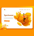 template website isometric landing page concept vector image vector image