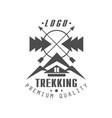 trekking premium quality logo design vintage vector image vector image