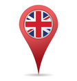 uk location icon vector image vector image