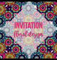 universal invitation floral abstract style card vector image vector image