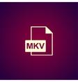 mkv file icon vector image