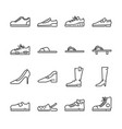 shoes line icon set vector image