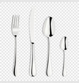 3d realistic metal silver stainless vector image