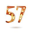 57 years anniversary celebration design vector image