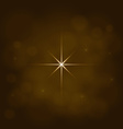 abstract star magic light sky bubble blur gold vector image vector image