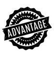 advantage rubber stamp vector image vector image