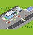 airport isometric background vector image vector image