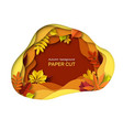 autumn leaves background autumnal orange brown vector image