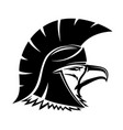bald eagle in spartan helmet vector image