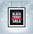 black friday sale poster in framewinter banner vector image vector image