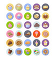 cakes flat icons pack vector image vector image