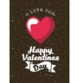card of happy valentines day vector image vector image