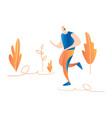 cartoon running men male sprinter running in vector image