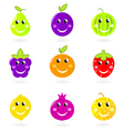 cartoon smiling fruit vector image vector image