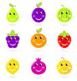 cartoon smiling fruit vector image vector image