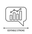 chatbot graph linear icon vector image vector image