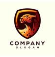 cheetah logo design vector image vector image