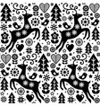 christmas folk style seamless pattern scan vector image vector image