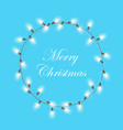 christmas light garland wreath christmas xmas vector image