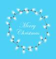christmas light garland wreath xmas vector image