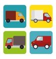 collection trucks delivery icons design vector image vector image