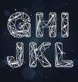 Constellation Geometric Font G-L vector image