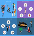 dances isometric design concept vector image