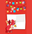 dragon on party template vector image vector image