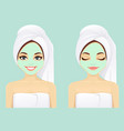 face skin care woman set vector image vector image