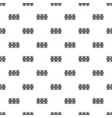 fence decorative icon simple black style vector image vector image