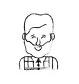 figure cute man with hairstyle design and shirt vector image vector image
