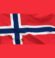 flag kingdom norway vector image