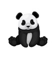 flat icon of cute sitting panda little vector image vector image