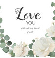 floral design card with white rose peony flower vector image vector image