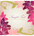 Flowers greeting card vector image vector image