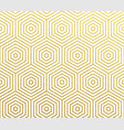 geometric abstract gold pattern background vector image vector image