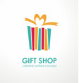 gift shop creative logo design vector image