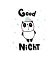 good night panda vector image