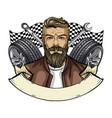 hand drawn sketch racer man vector image vector image