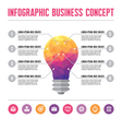 infographic business concept - lamp idea vector image vector image
