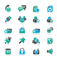 Internet blogging icons vector image vector image