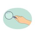 investigation exploration interest concept vector image