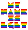 lgbt quote to love and life my name is lgbt vector image