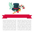 magic show poster design of magician trick vector image vector image